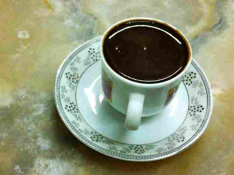"""The Turkish coffee served at Mandabatmaz cafe in Istanbul, where the coffee is served """"so thick even a water buffalo wouldn't sink in it."""""""