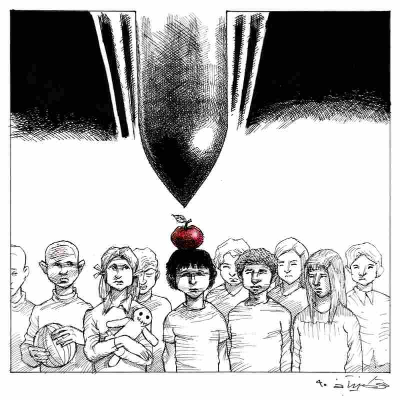 """War"" by Touka Neyestani: Neyestani received a degree in architecture from Tehran's Science and Industry University, and has been a cartoonist for more than 30 years."