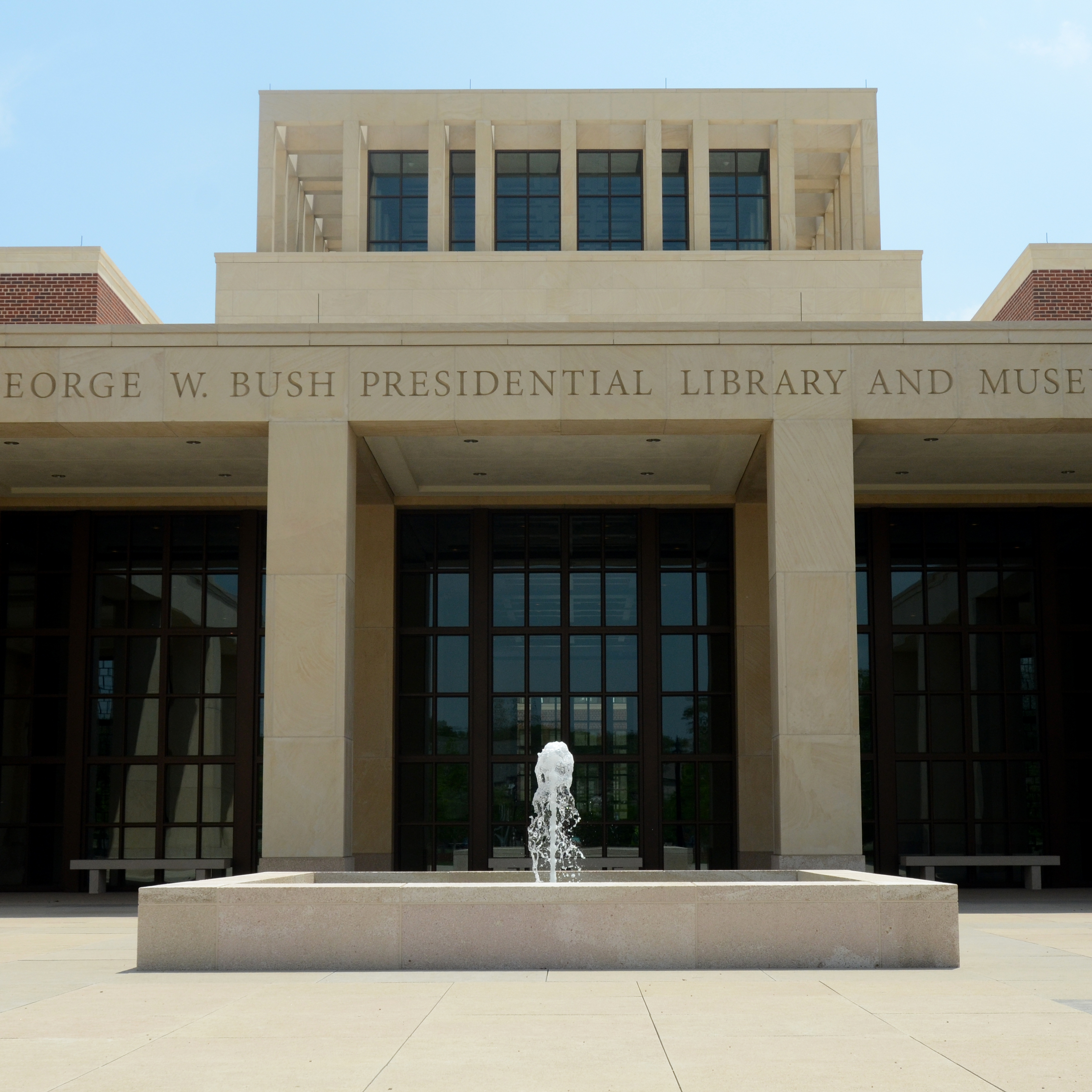 The George W. Bush Presidential Library and Museum in Dallas uses news clips, interactive screens and artifacts to tell the story of Bush's eight years in office.