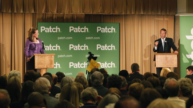 Democrat Elizabeth Colbert Busch and former South Carolina Gov. Mark Sanford debate for the South Carolina 1st Congresional special election in Charleston, S.C., on Monday. (Reuters /Landov)