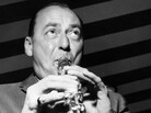 American jazz musician Woody Herman rehearses in London during a tour of England.