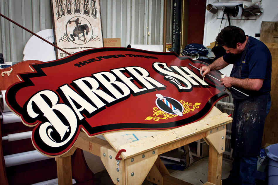 sign painters a close up focus on an endangered art the picture show npr