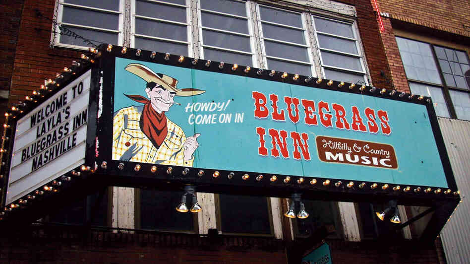 "Marquee painted by Norma Jeanne Maloney on ""Honky-tonk Row"" in Nashville, Tenn."