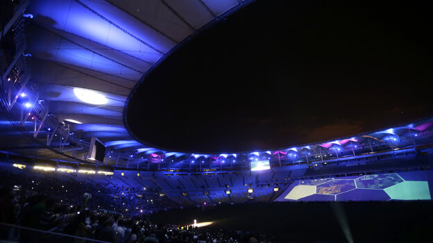 The renovated Maracana stadium hosts a
