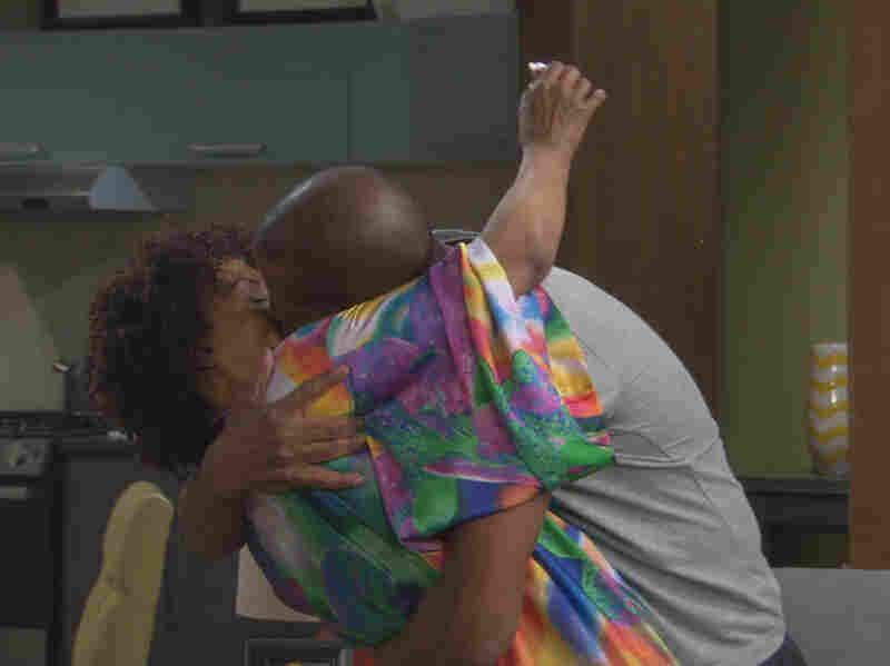 Debbi Morgan and Darnell Williams in a scene from the online-only premiere of All My Children.