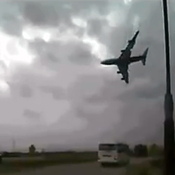 A dashcam video purports to show the crash of a civilian cargo 747 in Afghanistan Monday.