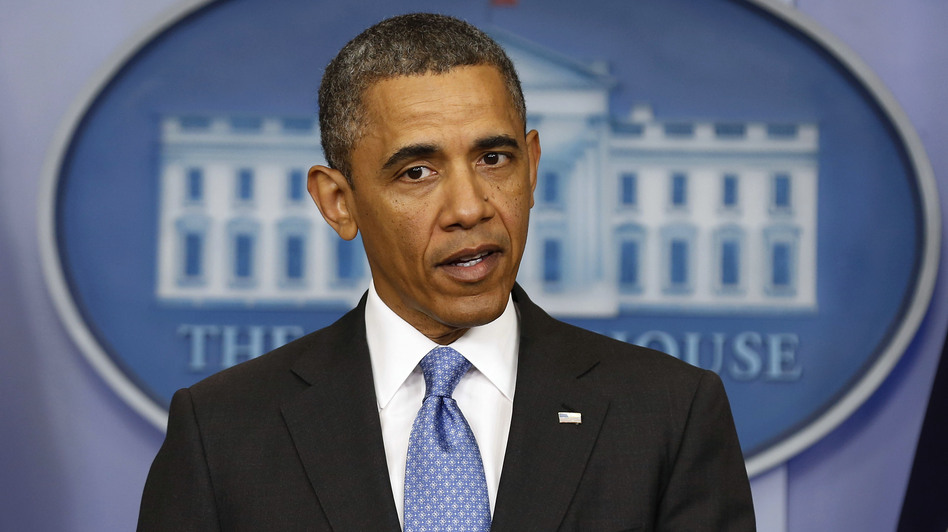 President Obama during his news conference Tuesday at the White House. (Reuters /Landov)
