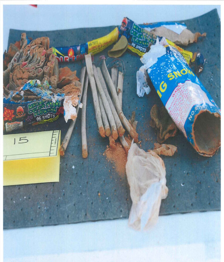 Items FBI agents say were inside a backpack recovered from a landfill in New Bedford. Investigators say the backpack was thrown in the trash by friends of Tsarnaev.