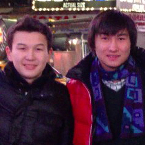 This undated photo added on April 18 to the VK page of Dias Kadyrbayev shows, Azamat Tazhayakov (left) and Dias Kadyrbayev, from Kazakhstan, with Boston Marathon bombing suspect Dzhokhar Tsarnaev in Times Square in New York. Kadyrbayev and Tazhayakov, two friends of Tsarnaev, and a third student have now been accused of trying to help their friend after the bombings.