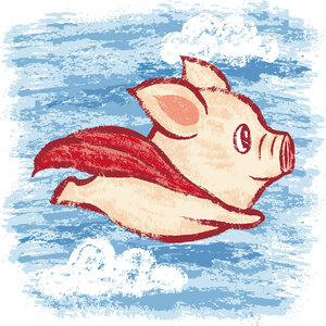 Imagine A Flying Pig: How Words Take Shape In The Brain : Shots ...