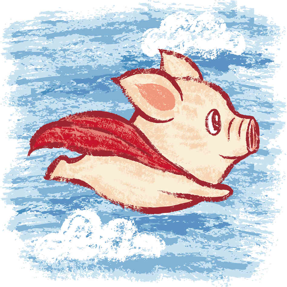 Although a flying pig doesn't exist in the real world, our brains use what we know about pigs and birds — and superheroes — to cr