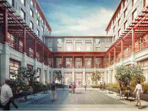 """The Schwarzman Scholars program, planned for the campus of Beijing's Tsinghua University, is described as """"a 21st century college designed to inspire interchange."""""""