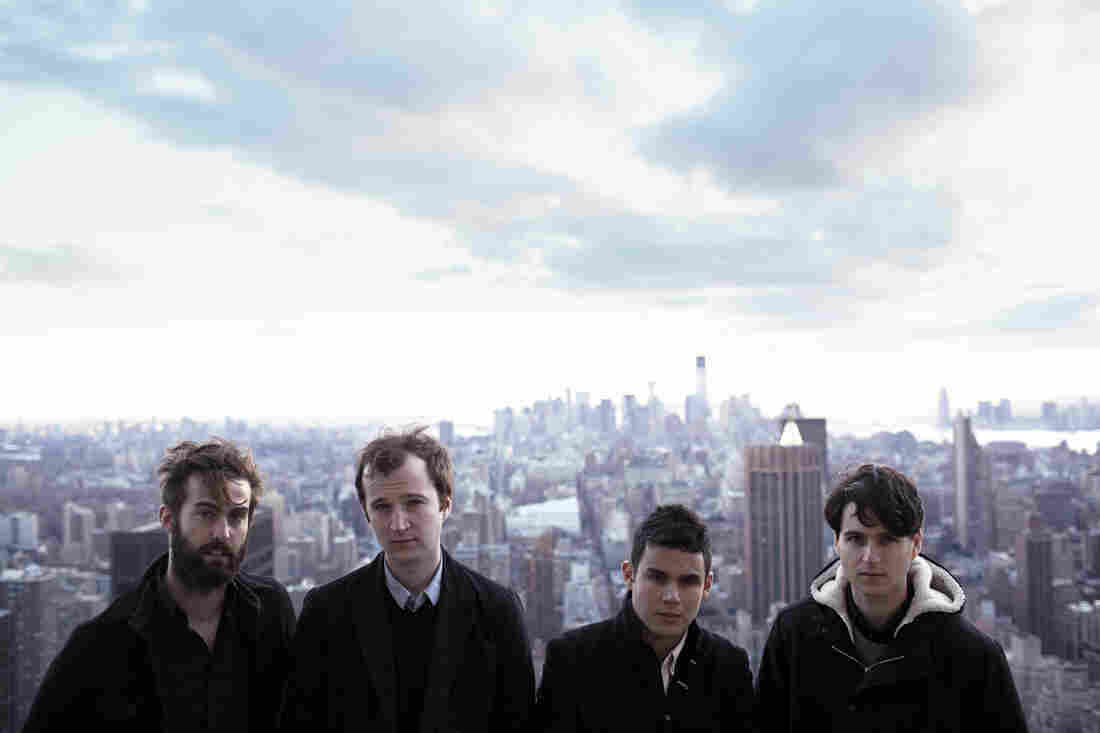 Vampire Weekend in New York City: (from left) Chris Tomson, Chris Baio, Rostam Batmanglij and Ezra Koenig.