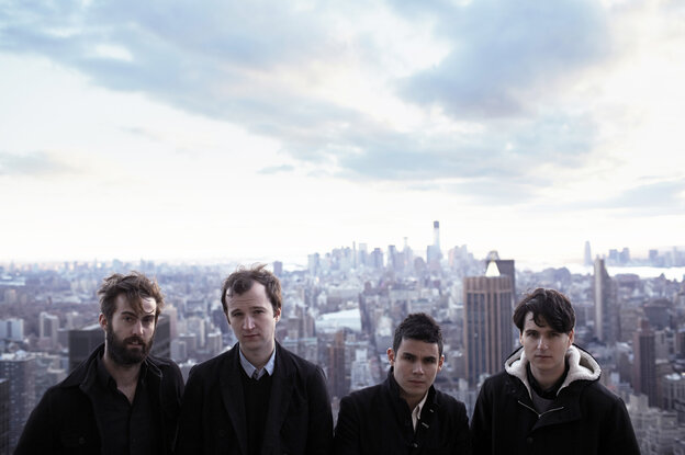 Vampire Weekend in New York City: (from left) Chris Tomson, Chris Baio, Rostam Batmanglij and Ezra Koenig.