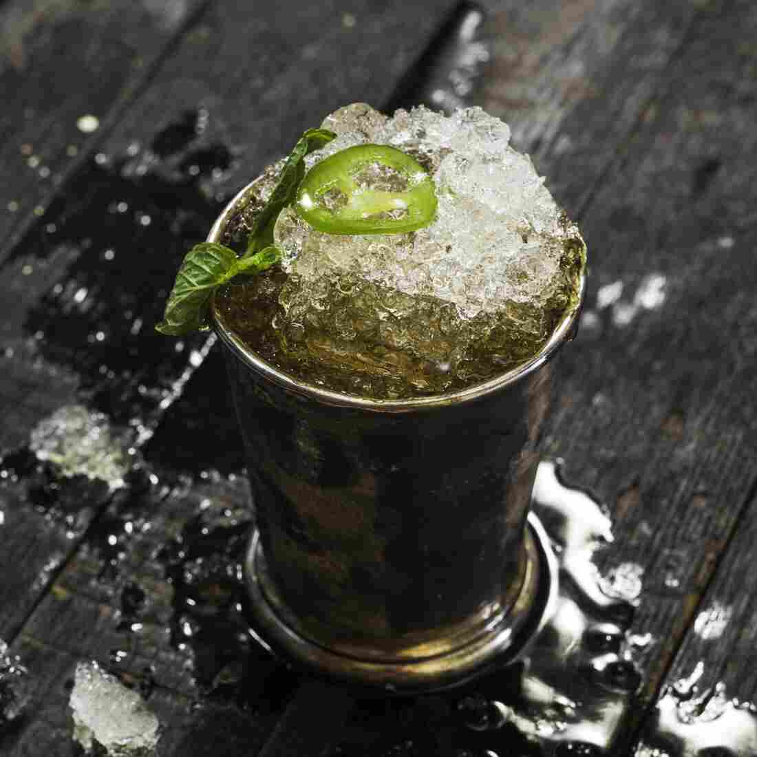 Jalapeño-Spiked Bourbon Julep