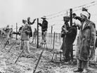 Setting up a barbed wire fence between Algeria and France in 1957, the year before Camus published Algerian Chronicles.