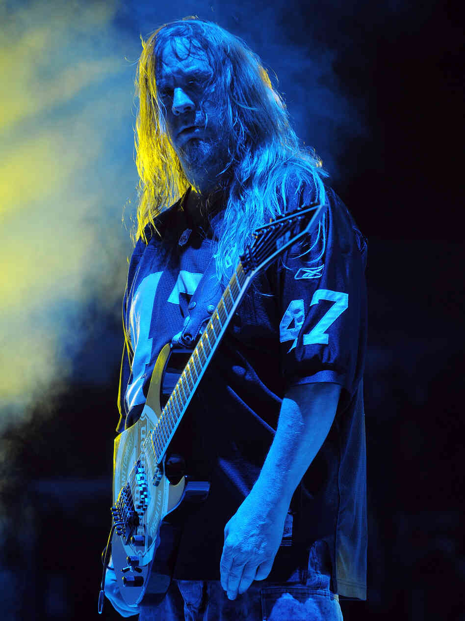 Slayer guitarist and founding member Jeff Hanneman died Thursday of liver failure. He was 49.