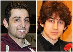 This composite photo shows brothers Tamerlan Tsarnaev, 26, (left) and Dzhokhar Tsarnaev, 19.