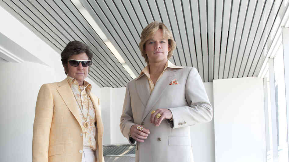 Michael Douglas and Matt Damon star as Liberace and his young lover, Scott Thorson, in Steven Soderbergh's new HBO biopic Behind the Candelabra.