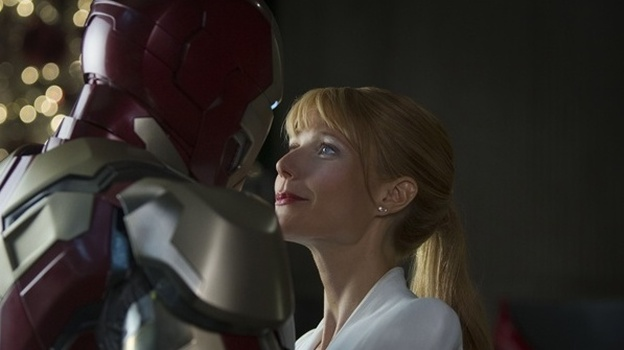 In Iron Man 3, Robert Downey Jr. reprises his role as Tony Stark (aka Iron Man), and Gwyneth Paltrow reprises hers as his girlfriend, Pepper Potts. (Paramout Pictures)