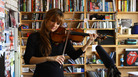 Watch the violinist spin out music by John Williams and Bach in sweet, soulful tendrils of sound.