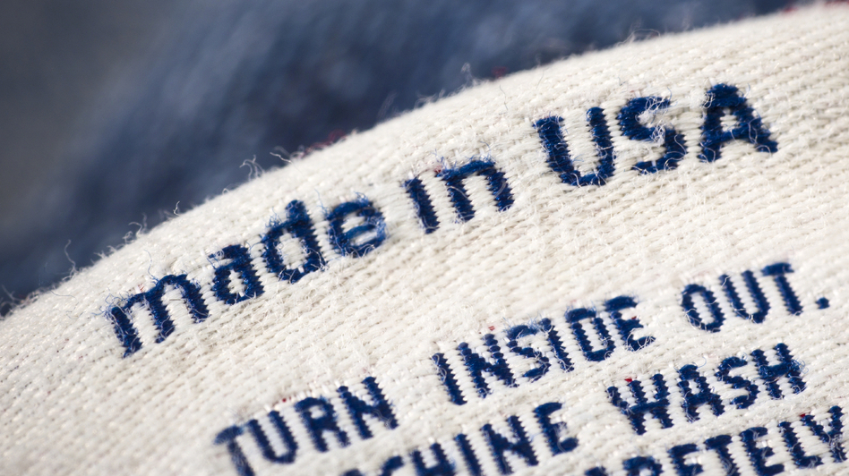 Casual clothing detail fashion background made in the USA (iStockPhoto.com)