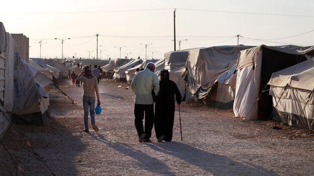 There are more than 100,000 Syrian refugees at the Zaatari refugee camp in Mafraq, Jordan, near the Syrian border.