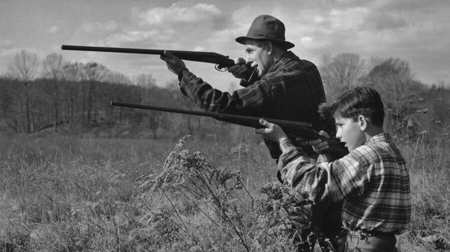 Image result for 1960s boy hunting with rifle
