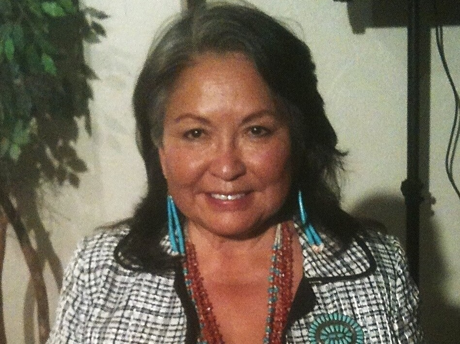 Luci Tapahonso is the author of several collections of poetry, including <em>A Radiant Curve</em> and <em>Blue Horses Rush In.</em> (Native truth/Wikimedia Commons)