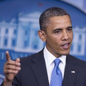 President Barack Obama holds a press conference on Tuesday.