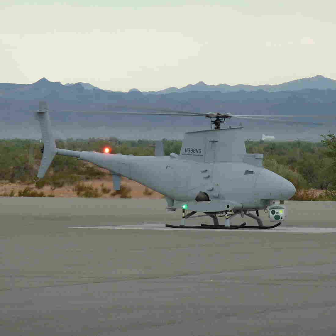 A photo of the MQ-8B, provided by Northrop Grumman.
