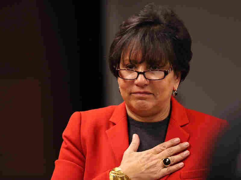 Penny Pritzker, who is being nominated to be the next secretary of commerce, in February.