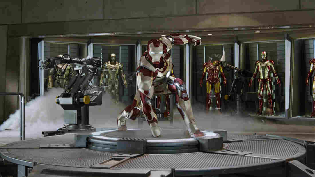 Window Dressing: Tony Stark's ongoing Iron Man research involves more than one suit of self-assembling armor.