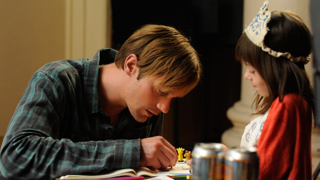 True Blood star Alexander Skarsgard turns in a sensitive performance as a sort of surrogate dad for the poorly parented title character (a restrained Onata Aprile) in What Maisie Knew, a quietly stirring update of