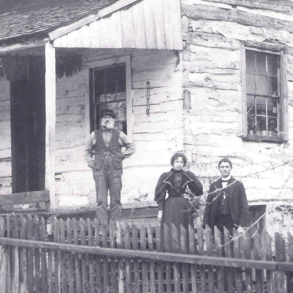 A typical Buckwheat Dutch two-room log house circa 1896.
