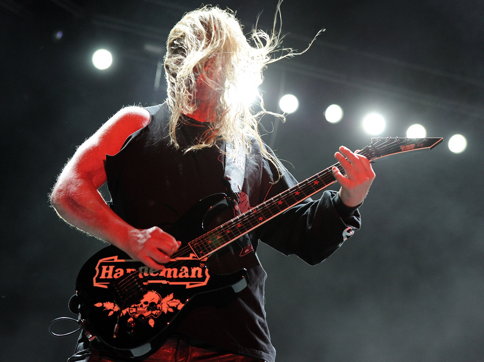 Jeff Hanneman of Slayer in 2011.