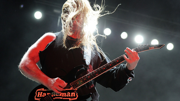 Jeff Hanneman of Slayer in 2011. (Getty Images)