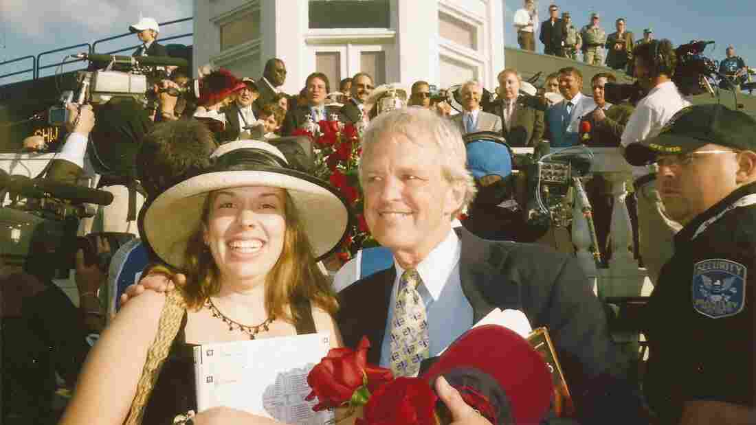 Stephen Johnstone and his niece, Sarah, crashed the Kentucky Derby celebration together in 2008.