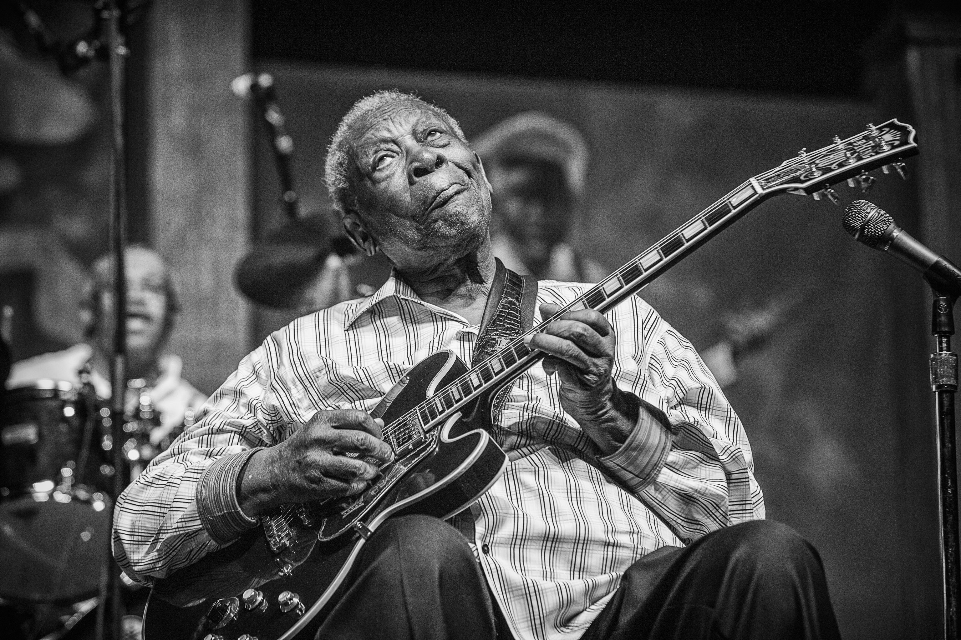 "Skip Bolen says B.B. King is one of this year's most photogenic performers at the festival: ""He has such great expressions."""