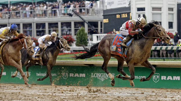 Joel Rosario rides Orb during the 139th Kentucky Derby at Churchill Downs on Saturday in Louisville, Ky. The odds-on favorite won the race.