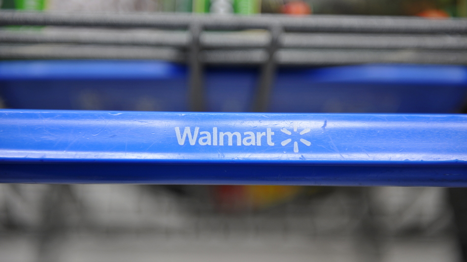 A shopping cart at a Wal-Mart store in Los Angeles. (AFP/Getty Images)