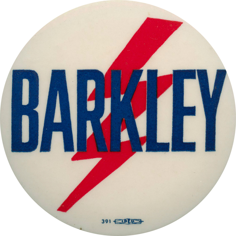 Vice President Barkley hoped lightning would strike at the 1952 Democratic convention.  It didn't. (Ken Rudin collection)