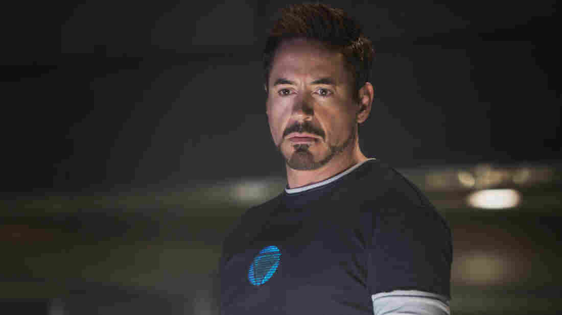 Robert Downey Jr. as Tony Stark in Iron Man 3.