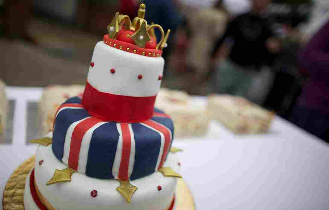Where the streets are lined with cake: This royal-themed cake was served during a street party in South London last June as part of celebrations of Queen Elizabeth II's Diamond Jubilee.