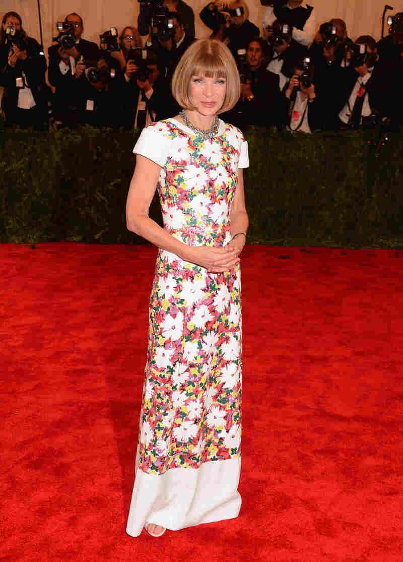 And this is what you wear to the Met Ball if you happen to be Anna Wintour.
