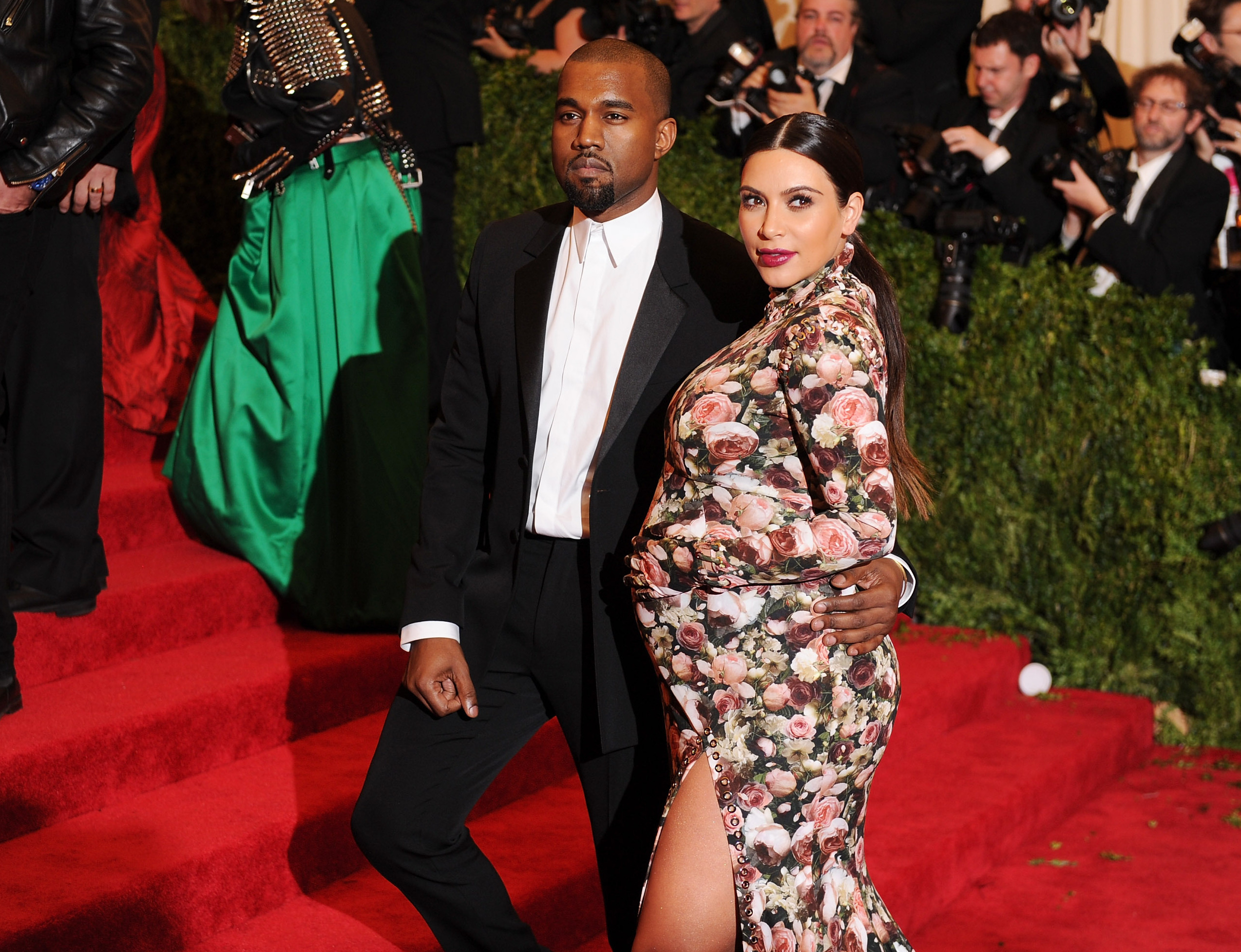 Kim Kardashian (with Kanye West) is real, real pregnant.