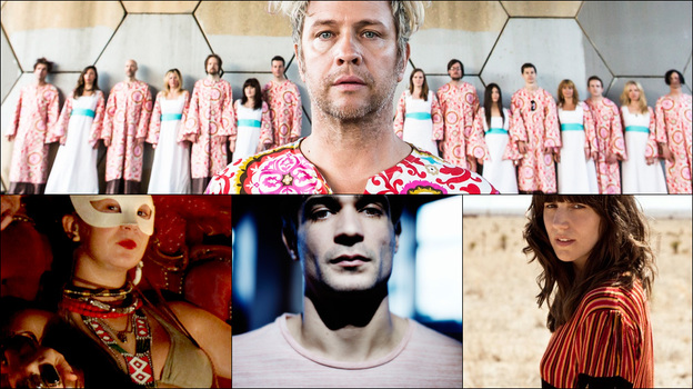 Clockwise from upper left: Goat, Eleanor Friedberger, The Polyphonic Spree (Courtesy of the artists)