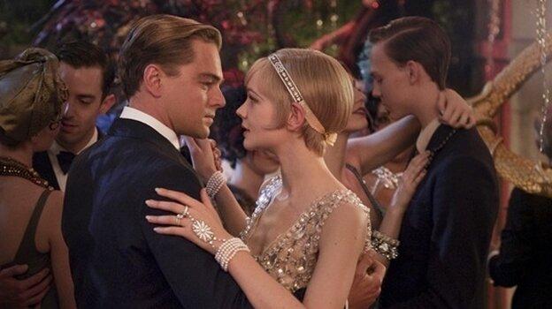 Leonard DiCaprio as Gatsby and Carrey Mulligan as Daisy star in Baz Luhrmann's new interpretation of F. Scott Fitzgerald's 1925 novel, The Great Gatsby.