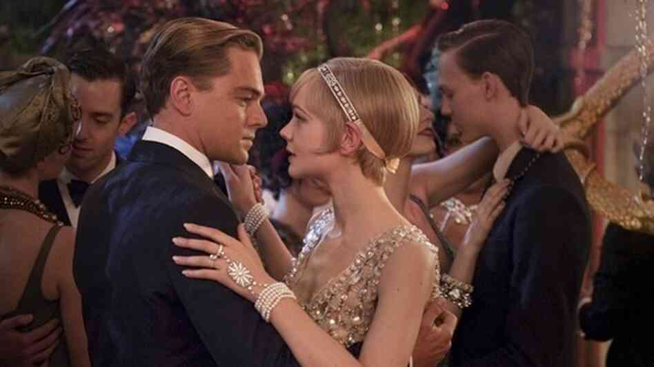 Leonard DiCaprio as Gatsby and Carrey Mulligan as Daisy star in Baz Luhrmann's new interpretation of F. Scott Fitzgerald's 1925 novel, The Great Gatsby.