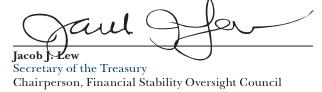 Lew's signature in a Treasury report.